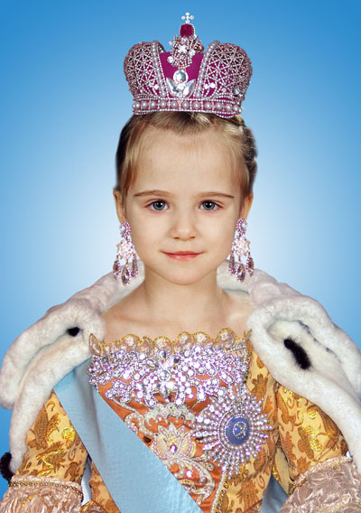 Детский костюм для девочки - императрица