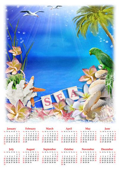 Календарь на 2016 год морской
