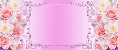 Кружка с розами и рамкой на розовом фоне