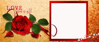 Кружка длю любимой с рамкой и розами