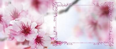 Нежная кружка с весенними цветами