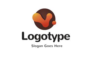 Абстрактный логотип внутри круга