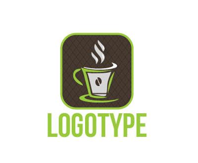 Логотип PSD для кофейни