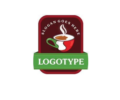 Логотип для итальянской кофейни