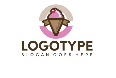 Логотип для мороженого