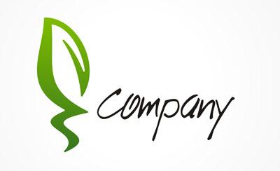Логотип в форме зеленой бабочки