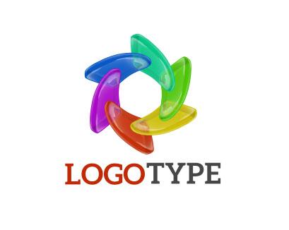 Логотип разноцветный в форме круга