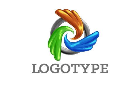Абстрактный логотип из трех элементов