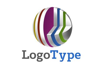 Логотип разноцветный в виде шара