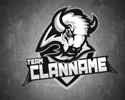 Логотип в виде бизона для команды или клана