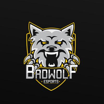 Логотип с волком для клана или команды