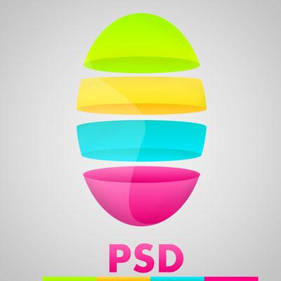 Логотип абстрактный разноцветный
