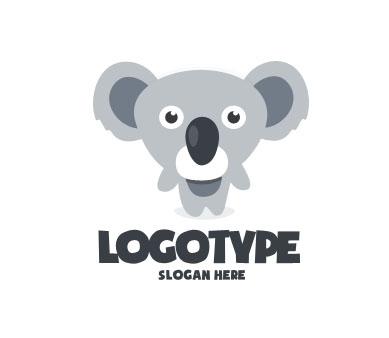 Логотип для детского магазина в виде коалы