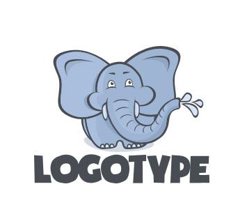 Логотип с мультяшным слоном