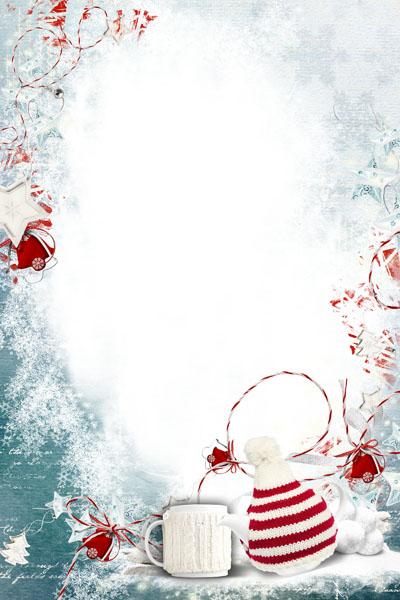 Новогодняя рамка со снеговиками