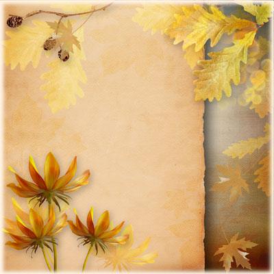 Рамка осенняя с желтыми листьями