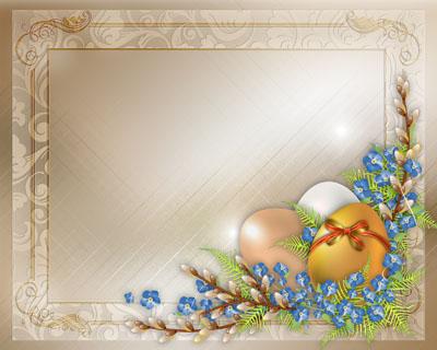 Рамка к пасхе с яйцами