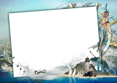 Рамка морская с русалкой