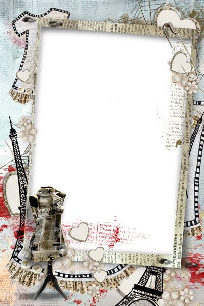 Рамка французская с Эйфелевой башней