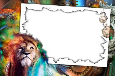 Рамка с львом