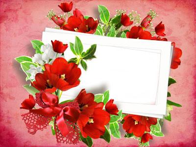 Рамка с тюльпанами
