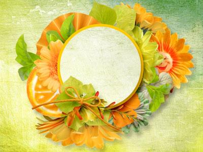 Рамка круглая апельсиновая