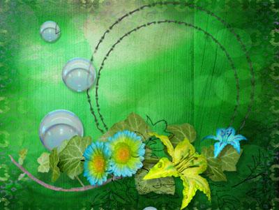 Зеленая круглая рамка