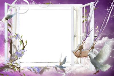 Рамка в виде открытого окна