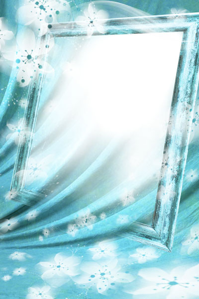 Рамка голубого цвета