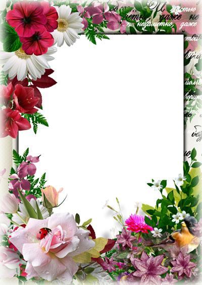 Рамка цветочная