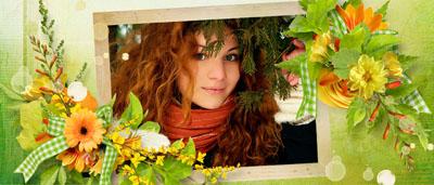 Рамка осенняя с цветами