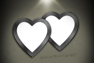 Рамка в виде двух сердец