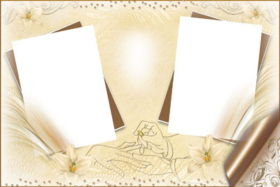 Свадебная рамка с двумя фото