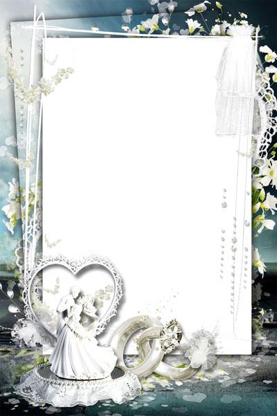 Свадебная рамка с фатой