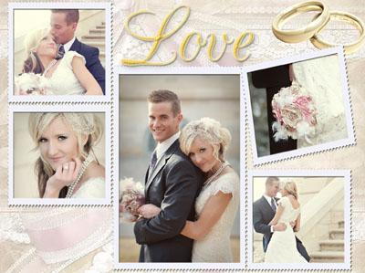 Свадебный макет для вставки фото