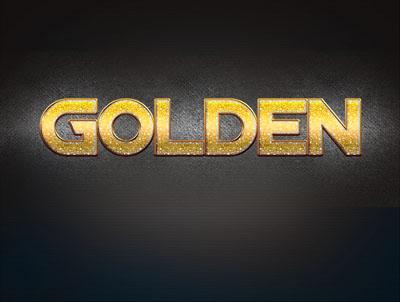 Текст золотой