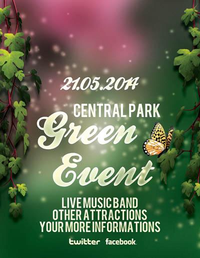 Флаер на зеленую вечеринку