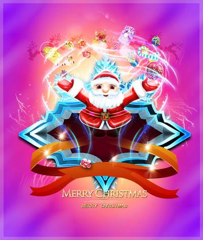 Макет флаера на рождество или новый год