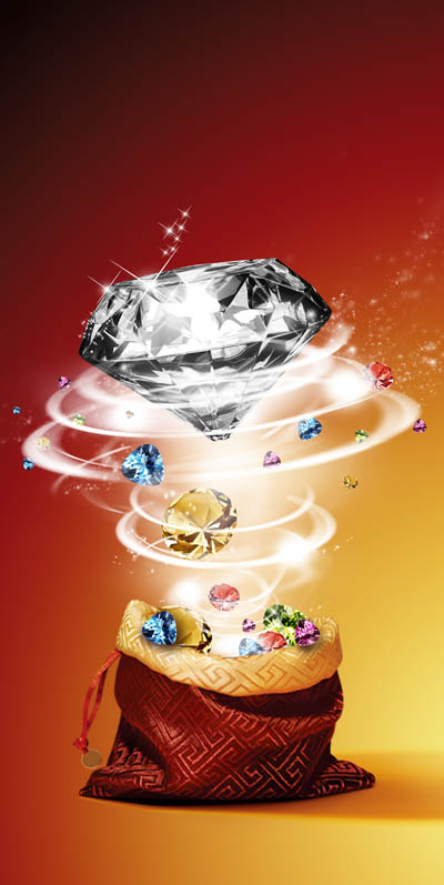 Макет флаера с бриллиантом