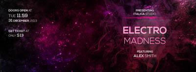 Флаер на electro вечеринку