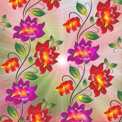 Фон с цветами в стиле росписи
