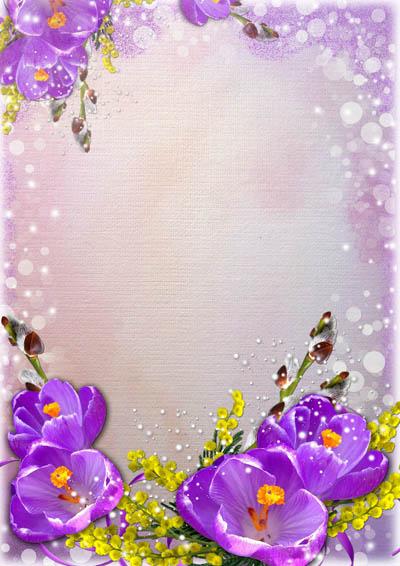 Фон с цветами по краям