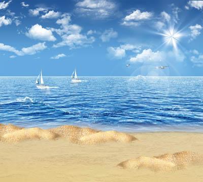 Фон морской с пляжем