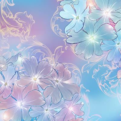 Фон с прозрачными цветами
