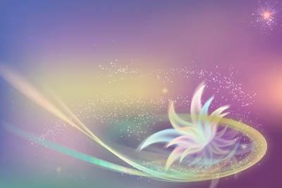 Фон с полупрозрачным цветком