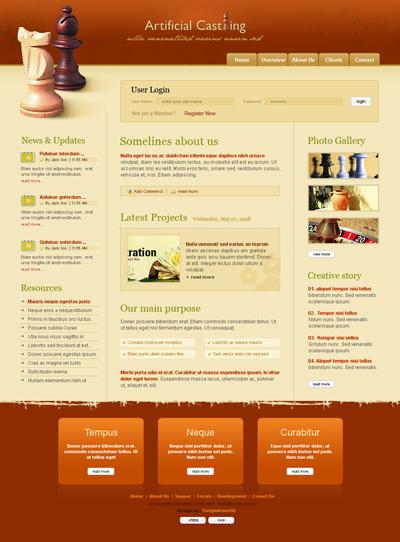 Шаблон сайта про шахматы
