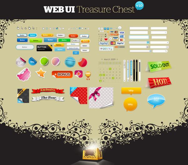 Огромный набор веб элементов