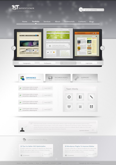Шаблон сайта вебдизайнера