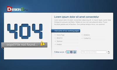 Шаблон страницы 404
