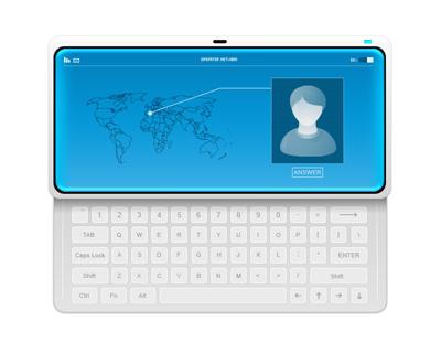 Телефон с QWERTY клавиатурой